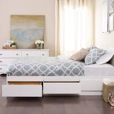 White Desk With Drawers On Both Sides Prepac Monterey Twin Wood Kids Storage Bed Wbt 4100 2k The Home