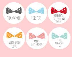labels for party favors 24 bow stickers thank you stickers labels stickers