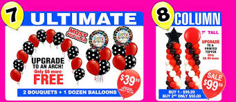 balloon delivery las vegas balloon menu