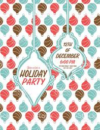 cute christmas party invitation with holiday icons background