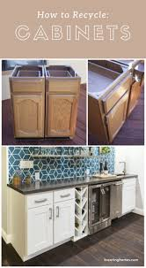 what to do with cabinets recycled kitchen cabinets kreating homes recycled