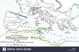 Punic Wars Map This Map Shows The Lands Under Roman Control Pink And Under