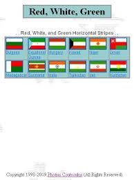 horizontal red white green stripes flag identifier printable page