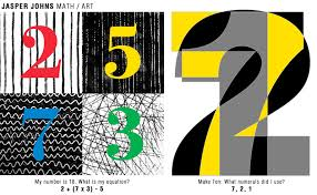 explore jasper johns math art