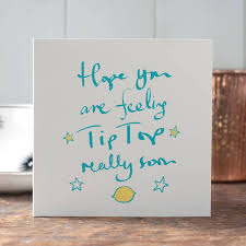 get well soon cards get well soon card by inkpaintpaper notonthehighstreet