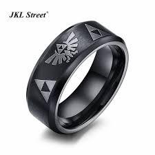 cool rings for men 8mm wire drawing titanium steel black cool men rings space energy