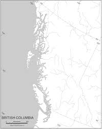 Blank Pacific Map by Pacific Northwest Relief U2022 Mapsof Net