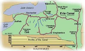 map of the erie canal vaughan david erie canal map and brief history