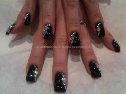 nail art crystals designs black bling nails swarovski crystals