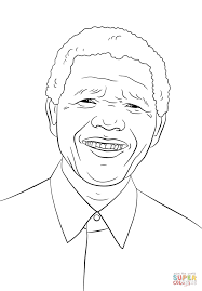 nelson mandela coloring page free printable coloring pages