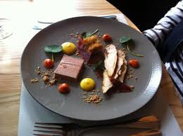 pat e cuisine smoked chicken and chicken liver pate with fried blue cheese small