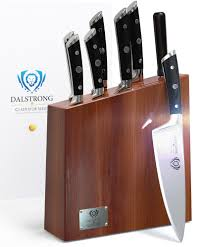 Anolon Kitchen Knives by Dalstrong Knife Set Block Gladiator Series Acacia Wood Block Set