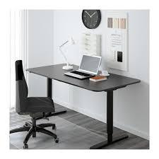 Black And White Computer Desk Bekant Desk Sit Stand Black Brown White Ikea