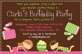 slumber party invitation wording ideas cloveranddot com