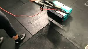 cleaning a crossfit box floor