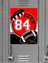 Football Locker Decorations Football Teamwork Wins Championships Sports Mdf Sign Open Road
