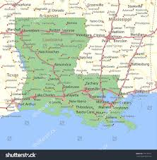 louisiana map areas louisiana map shows state borders stock vector 779177071