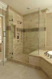 bathroom tile trim ideas another exle of shower bench joining tub surround note the tile