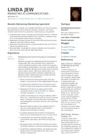 Communications Resume Examples by Marketing Resume Samples Visualcv Resume Samples Database