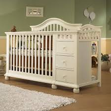 4 In 1 Crib With Changing Table Sorelle Cape Cod 4 In 1 Convertible Combo Crib In French White