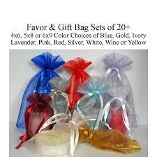 organza favor bags favor bags 4x6 5x8 5x7 6x9 gift bags organza bags wedding