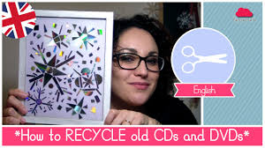 how to recycle cds and dvds snowflakes decorations