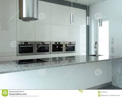 White Kitchen Appliances by White Kitchen With Built In Appliances Stock Photos Image 22786193