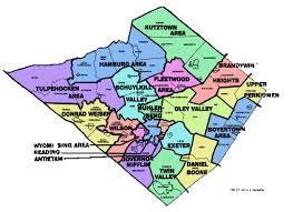 map of berks county pa social work perkiomen district