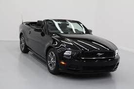 2014 Black Ford Mustang 2014 Ford Mustang 2dr Conv V6 Premium In Longview Tx Ford