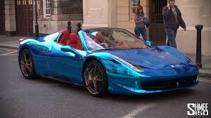 purple ferrari wallpaper chrome blue ferrari 458 spider supercar from saudi arabia youtube