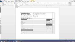 design form in word word 2013 fillable forms youtube