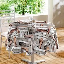 nappe cuisine plastique nappe ronde plastique design ustensiles de cuisine en bois linge