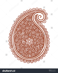 indian vintage paisley decorative henna design stock vector