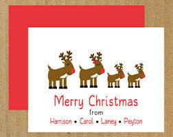 elf note cards set of 10 personalized holiday thank you