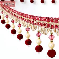 Beaded Fringe For Curtains Online Get Cheap Beads And Lace For Curtains Aliexpress Com