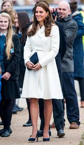 kate middleton dresses her baby bump in winter white instyle com