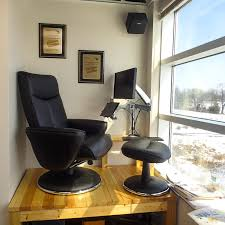 Recliner Laptop Desk by Recliner Workstation Taking Advantage Of A Small Alcove In The