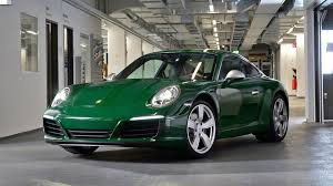 porsche 911 supercar this irish green porsche 911 is the one millionth 911 ever made
