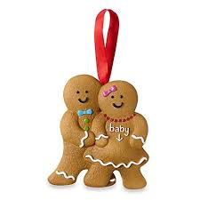 expecting gingerbread family holiday ornament buybuy baby