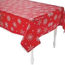 Oriental Trading Home Decor by Red U0026 White Snowflake Tablecloth Orientaltrading Com Home