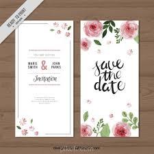 wedding invitations vector ai watercolor roses wedding invitation vector free pikoff