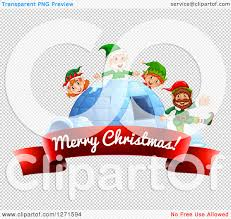 clipart red merry christmas ribbon banner igloo