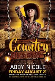 template flyer country free ffflyer country music night flyer template western country