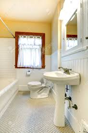 unique wood or tile baseboard in bathroom on small home decor