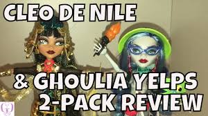 monster high cleo de nile u0026 ghoulia yelps 2 pack doll review