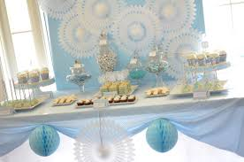 Centerpieces For Baptism For A Boy by Baby Blue And Silver Grey Baptism Party Ideas Communion Boys
