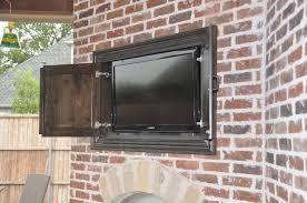 outdoor tv enclosure diy outdoor designs