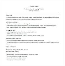 events coordinator resume event planner resume summary coordinator template for special