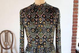vintage 1970s winter garden velvet maxi dress from vianova on ruby