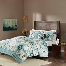 Blue Quilted Coverlet Madison Park Imani 6 Piece Quilted Coverlet Set Ebay